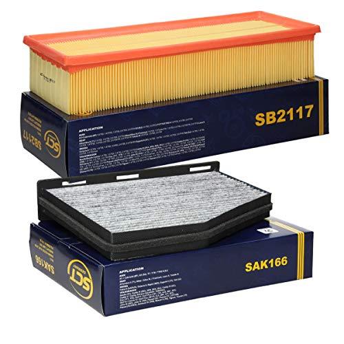 SCT Germany Inspektionspaket Wartungspaket Filterset 1 x Luftfilter 1 x Innenraumfilter mit Aktivkohle
