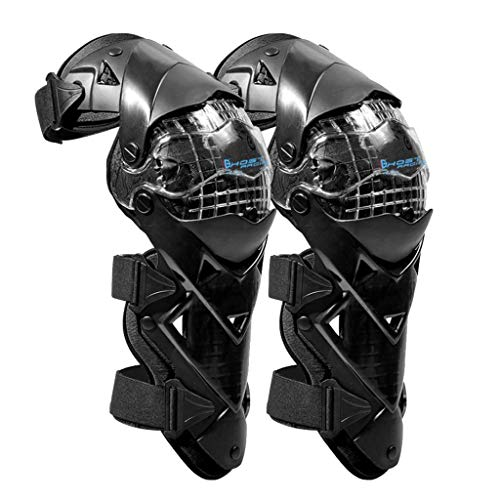 AIREQN Motorcycle ATV Motocross Elbow Knee Shin Guards Pads Braces Protection Gear For Motorbike Mountain Biking Bicycle (Black) (Color : Black)