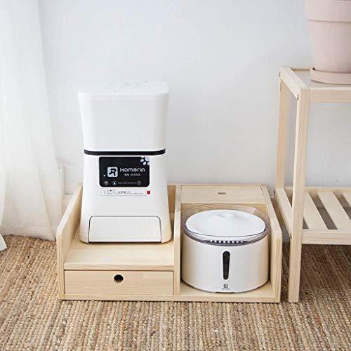 ZTMN Trinkwasserbrunnen für Haustiere Smart Pet Feeder WiFi-Handy Fernbedienung Automatische Fütterung Getreide Hund Katze Universal (Größe: B)