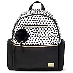 powerful Carter's All Together Diaper Backpack, Matte Black / White Dot Changed