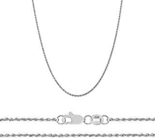 14K Yellow, White. and Rose Gold 1.5mm Diamond Cut Rope Chain Necklace, 16