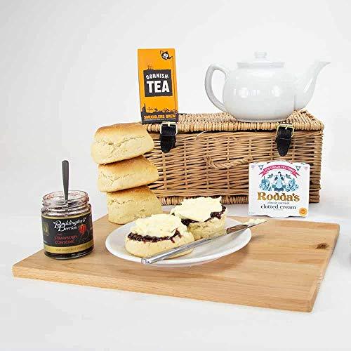 Traditional Cornish Cream Tea Hamper, Landscape Printed Carton
