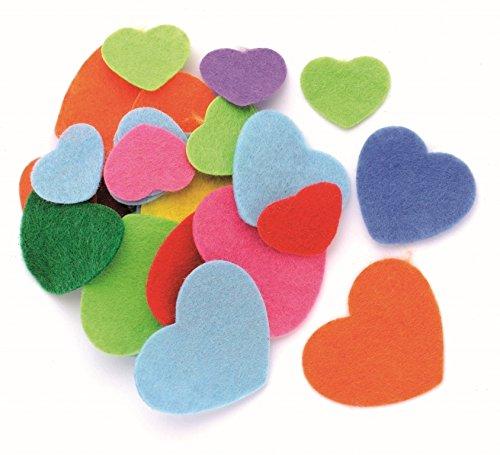 Glorex Herzen, Filz, Mehrfarbig, 18,5 x 11,5 x 1,5 cm, 80-Einheiten