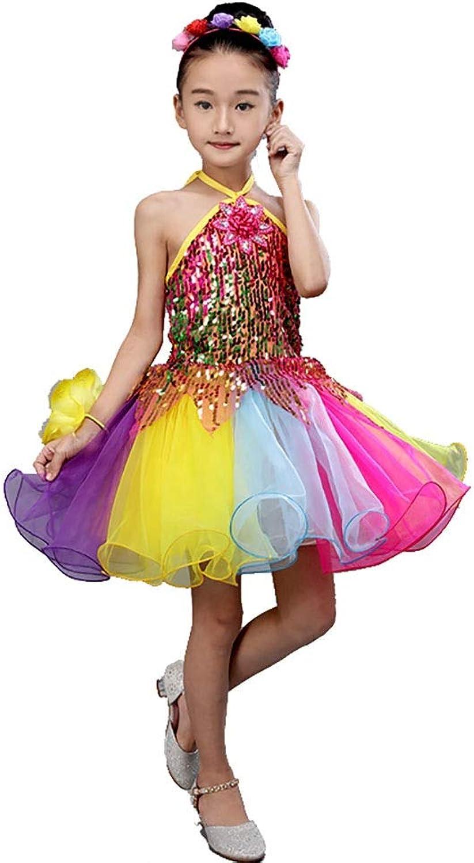 Jian E& Tanzkleidung - Kinder Pettiskirt Kostüme Mädchen Prinzessin Kleid Chor Kindergarten Tanzkleid Pailletten Gaze Performance Kleidung B07PCMDC36  Schönes Aussehen
