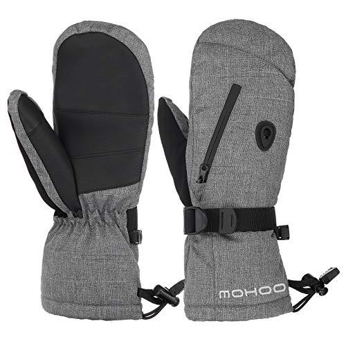 MOHOO Skihandschuhe, Winterhandschuhe Herren Wasserdicht Warm Fausthandschuhe Damen Snowboardhandschuhe Fäustlinge Winter Handschuhe
