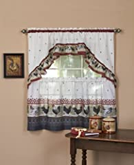 Complete Window Set Fabric Content: 100% Polyester Measures 57-inch x 36-inch