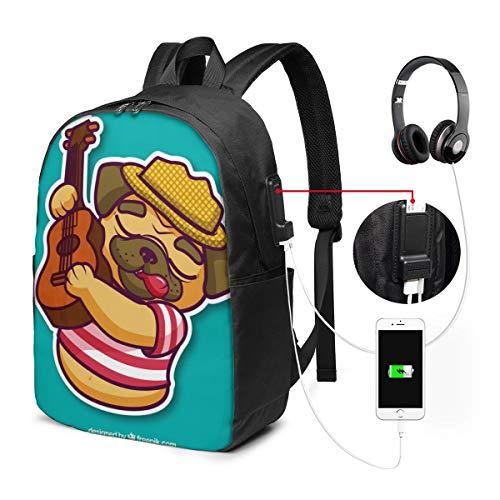 Dog gitar rugzak met USB-interface, casual rugzak, voor computers van hoge kwaliteit, multifunctioneel
