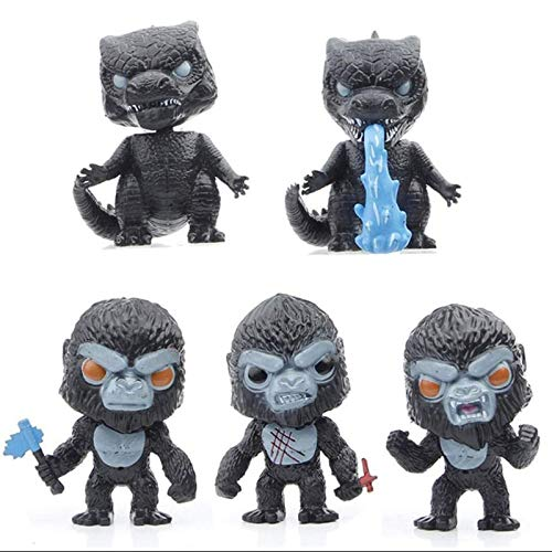 YMSM 5pieces Godzilla Action Figures,Dinosaur Toy,King Kong Toy,Action Figure Cute Decorations,Mini Character Doll Statue Toy,Gifts For Movie Fans Kid Adult-10cm