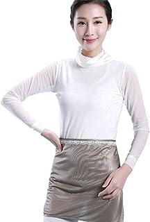ZEVONDA 銀繊維防放射線マタニティドレス妊娠中のミイラ放射線防護衣類, シルバーグレー/ワンサイズ