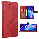 Phone Case for LG V40 ThinQ Folio Flip Wallet Case,PU Leather Credit Card Holder Slots Full Body Protection Kickstand Hard Hybrid Protective Phone Cover for LGV40 Storm V 40 Thin Q V40ThinQ Red