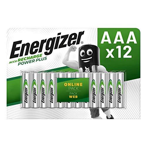Energizer Batterie Ricaricabili AAA, Recharge Power Plus, Confezione da 12