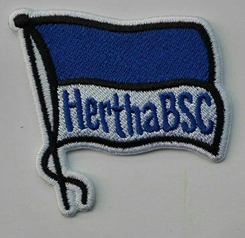 2stk Berlin Hertha 1 Aufnäher Patch Football Fussball Soccer Club Iron on bügelbild aufbügler Badge