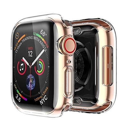 Brting Sorteo Cubierta for la Caja del Reloj de Apple 44mm / 40mm 42mm / 38mm Accessories Soft All-Round TPU Pantalla de Parachoques Protector for la Serie IWATCH SE 3 4 5 6