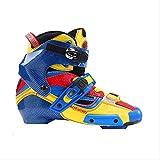 通用 Crazy Carbon Fiber Boot Professional Inline Skates Liner Adulte Roller Skating Chaussures Patines similaires à SEBA Igor Boot 42 Blue