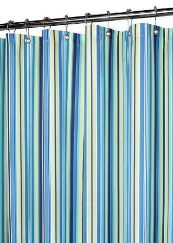 Park B. Smith Strings Stripe douchegordijn, Zwart/Bos/Natuurlijk/Cocoa