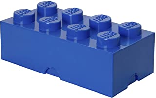Room Copenhagen Lego Storage Box Brick 8, Large, Bright Blue