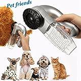 Malloom Aspirador eléctrico para pelos de Mascotas Gato Perro Mascota Removedor de Piel para el Pelo Peine Aspiradora Trimmer