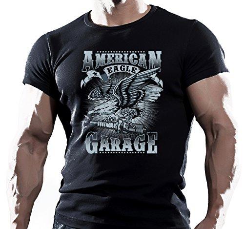 American Eagle Garage Motorfiets Chopper Rod Heren t-shirt tees