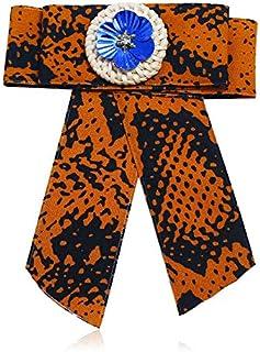 CBCJU Fashion Joker Lady Print Broche Exquisita Corbata de Lazo Serpentina Tejida a Mano 16 * 12.5cm