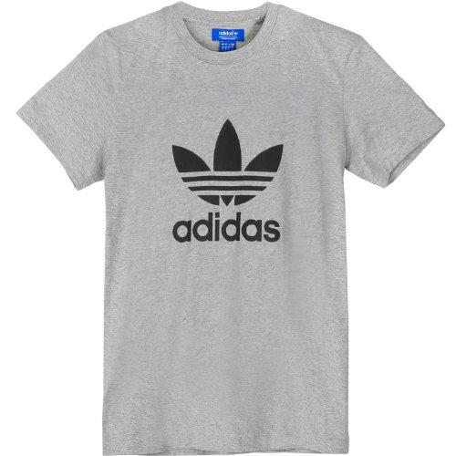 Adidas Originals Trefoil - Camiseta para hombre - Gris - Large