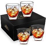 Whiskey Glass, Zpose Whiskey Glasses, Whiskey Glasses for Men, Scotch Glasses, Crystal Whiskey Glasses, Old Fashioned Glass, Scotch Glasses Personalized, Bourbon Glasses, Rocks Glasses Set 4, 9oz