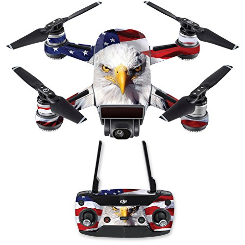MightySkins Skin Compatible with DJI Spark Mini Drone Combo - America Strong | Protective, Durable, and Unique Vinyl Decal wrap Cover | Easy to Apply, Remove, and Change Styles | Made in The USA
