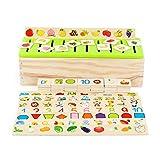 QZPM Montessori Infantil Educación Clasificación Caja, Caja De Clasificación...