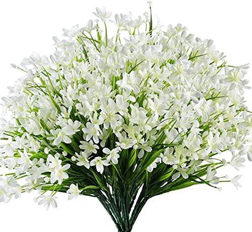 Flores Artificiales Exterior Blancas flores artificiales  Marca Ruiuzioong