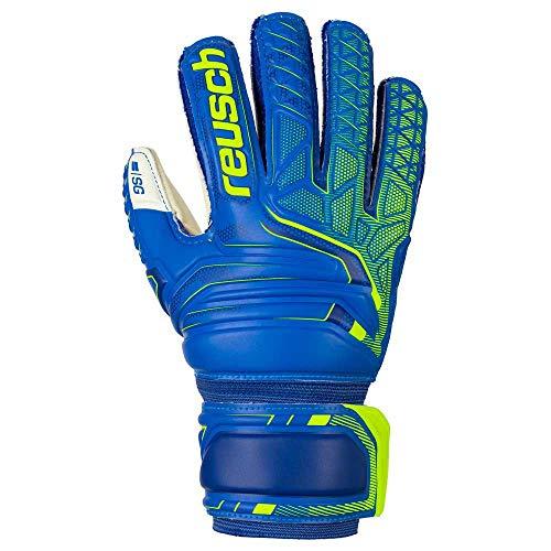 Reusch Attrakt SG Finger Support Junior Guantes, Niño, Azul/Amarillo, FR : S (Talla del Fabricante: 5)