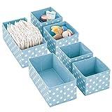mDesign Juego de 6 Cajas de almacenaje para Cuarto Infantil y baño – Cestas...