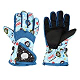 Kids Snow Gloves, Waterproof Winter Gloves With Adjustable Buckle For Boys Girls