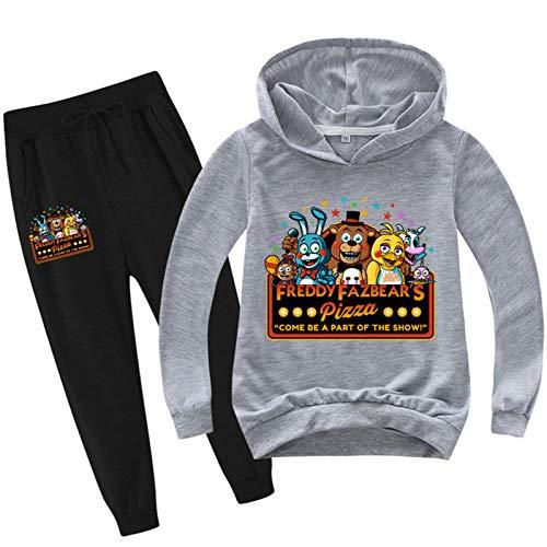 Fnaf sudadera con capucha pantaln conjunto de trajes unisex nios adultos disfraz de anime cosplay FNAF Sudaderas Jersey Jersey Deporte