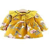 CZYTN Abrigos de Invierno para niñas recién Nacidas, de algodón, Gruesos, de Terciopelo Amarillo Amarillo 90 cm