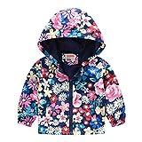 New Korean Kids Cartoon Coat Baby Girls Boys Autumn Cute Print Jacket Zipper Hooded Windproof Windbreaker
