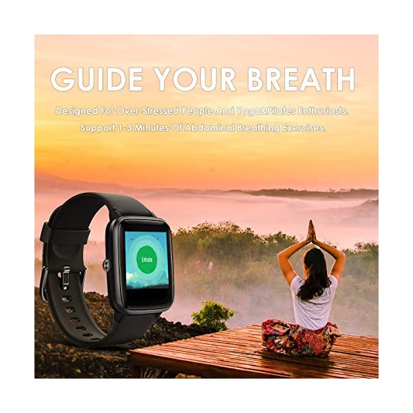 LATEC Smartwatch, Reloj Inteligente Impermeable con Pulsómetro, Pulsera
