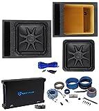 Kicker L7S154 15' Solobaric L7S Car Subwoofer+Vented Box+Mono Amplifier+Amp Kit