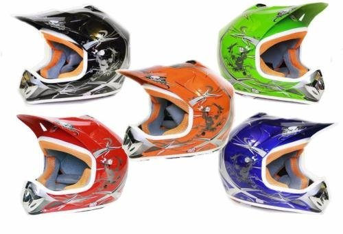 MATT Helm Kinderhelm Motorradhelm Crosshelm Motocrosshelm Sport (Silber, M)