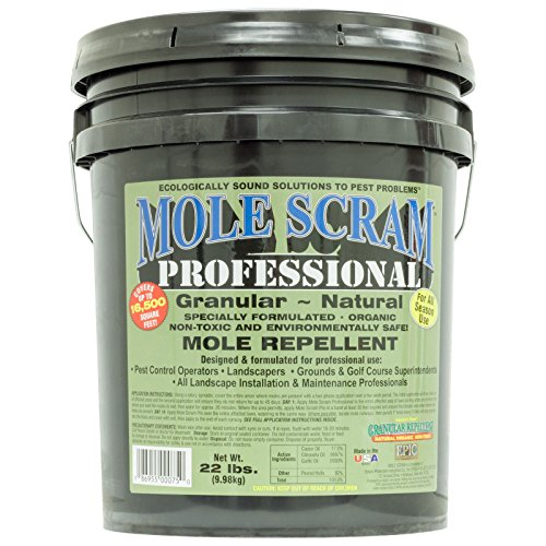 EPIC Mole Scram Professional 22 Lbs Organic Mole Repellent Covers 16;500 Sq Ft Moles