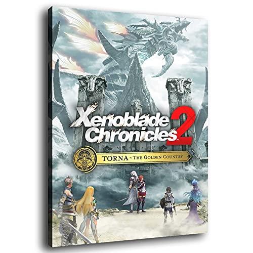 Xenoblade Chronicles 2 Torna – Poster su tela di canapa Golden Country, stampa artistica su tela e stampa artistica da parete, 70 x 105 cm