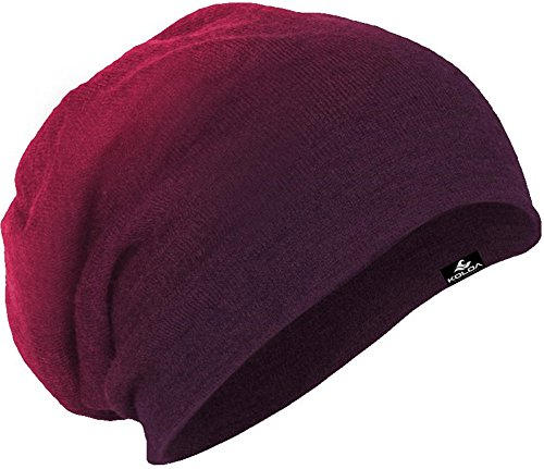 Koloa Surf Slouchy Beanie in Eggplant Dip Dye One Size Fits Most