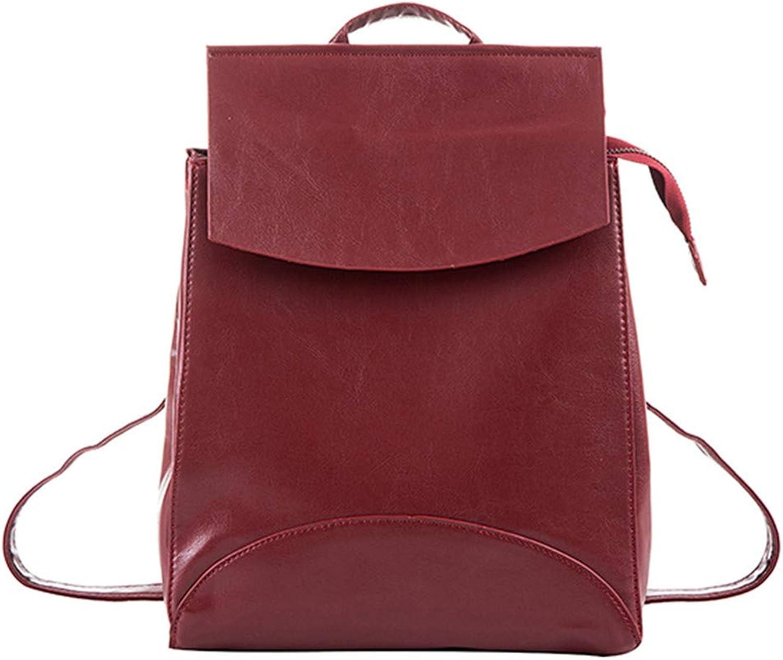 Fashion Pu Leather School Backpacks Teenage Girls Preppy Style Shoulder Bag Daypack For Women