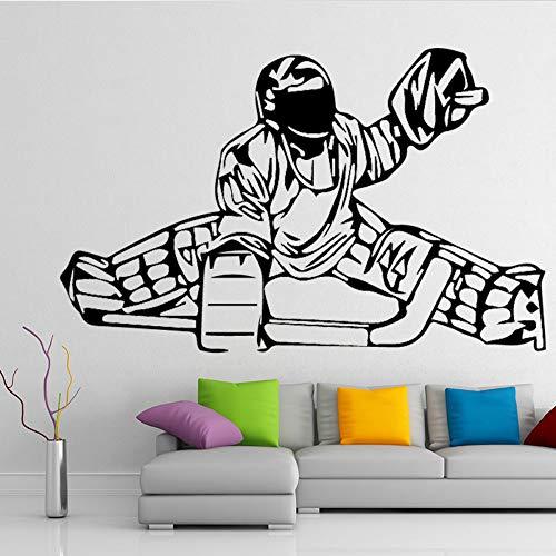 SLQUIET Anpassbare menschlichen Schlitten Kunst Wandaufkleber Baby Wohnzimmer Schlafzimmer Dekoration selbstklebende Tapete Wandtattoo Wandbild Weiß L 43cm X 71cm