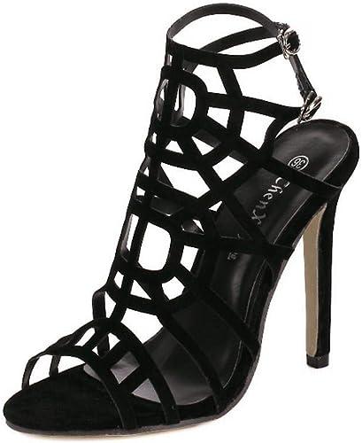 Honneur Bouche de Poisson Sexy des Femmes avec des Sandales à Talons Hauts Stiletto Chaussures Femmes Sandales pour Femmes