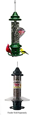 Brome 1024 Squirrel Buster Plus Wild Bird Feeder with Cardinal Perch Ring WITH Squirrel Buster Weather Guard for Squirrel Buster Plus Bird Feeder