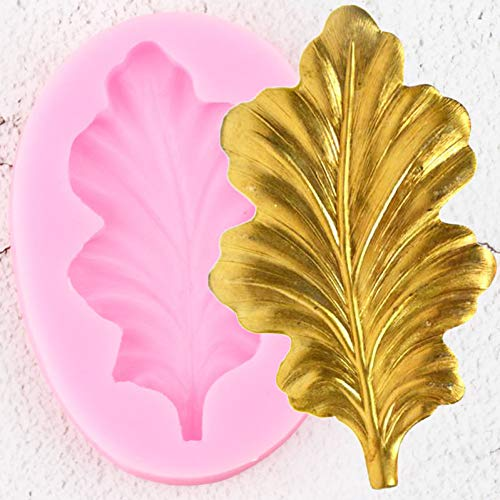 ZZYOU 3D Craft Leaf Silicone Mold Cake Topper Fudge Cake Decoration Tool Polymer Clay Candy Chocolate Mold
