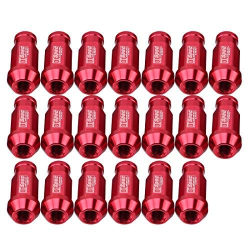 Juego tornillos y tuercas D1 SPECT P1.5 Tuerca de rueda de carreras, Longitud: 50mm (20 PCS) (Color : Red)