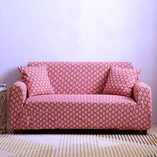 Jonist Funda de sofá Jacquard 3D Todo Incluido Antideslizante Fuerza elástica Escudo de Muebles-Rojo Vino-Individual: 90cm-140cm