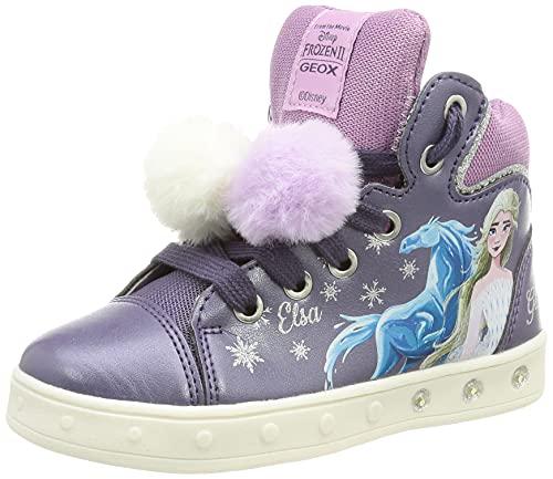 Geox J Skylin Girl C, Scarpe da Ginnastica Bambina, Purple/Mauve, 31 EU