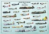 Posters du Monde - Póster de aviones de la Segunda Guerra Mundial laminado/encapsulado mide aproximadamente 100 x 70 cm