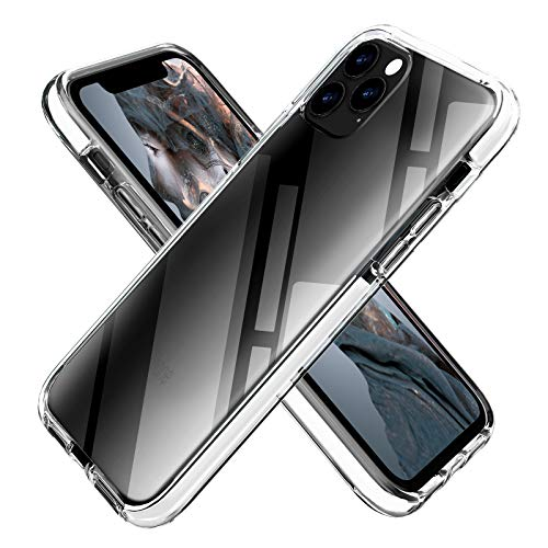 OHNICE iPhone 11 Case Clear Transparent Anti-Yellow TPU Cover with Soft Crystal Corners Rubber Bumper Shockproof Protective Case for Apple 2019 New iPhone 11-6.1 inch (White)
